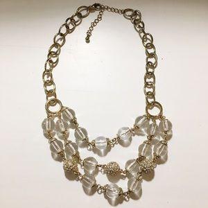 🍓BOGO Banana republic statement necklace gold